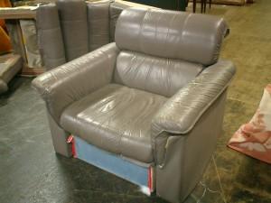 1人掛け(両肘)ソファーの張替え