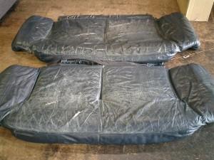 3人掛けソファー座面クッション張替え