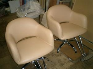 美容椅子の張替え